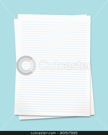 White note paper stock vector clipart, Clean white paper with room to add your own copy by Michael Travers