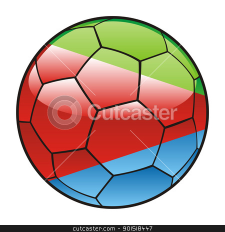 Eritrea flag on soccer ball stock vector clipart, vector illustration of Eritrea flag on soccer ball by pilgrim.artworks
