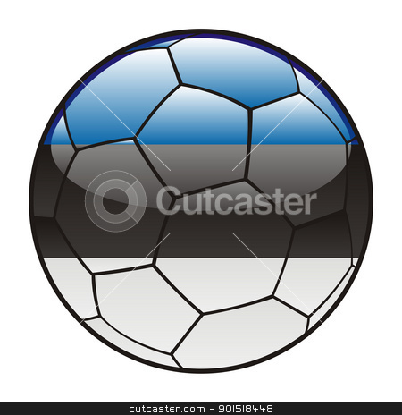 Estonia flag on soccer ball stock vector clipart, vector illustration of Estonia flag on soccer ball by pilgrim.artworks