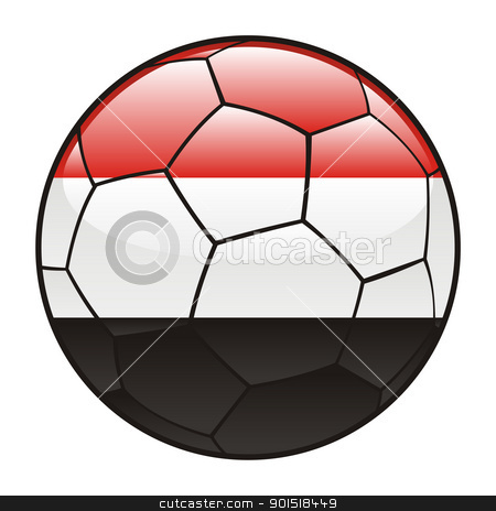 Egypt flag on soccer ball stock vector clipart, vector illustration of Egypt flag on soccer ball by pilgrim.artworks