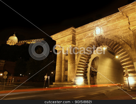 Budapest, Hungary stock photo, Adam Clark Tunnel with traffic lights in Budapest, Hungary by vladacanon1