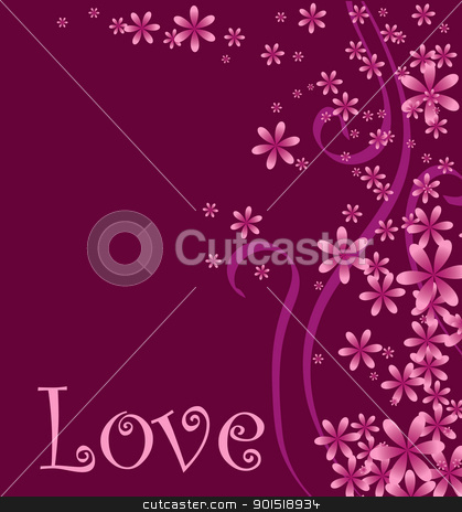 Love Curly Background stock vector clipart, Vector illustration of a love or Valentines background.  by Basheera Hassanali