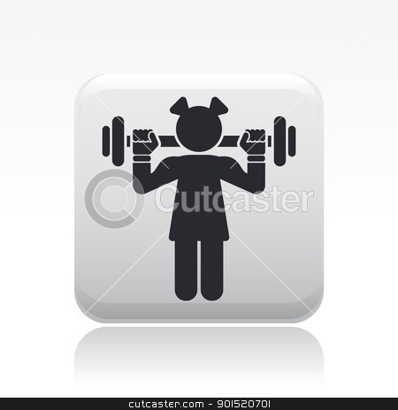 Vector illustration stock vector clipart, Vector illustration of single isolated gym girl icon by Myvector