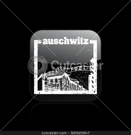 Vector illustration stock vector clipart, Vector illustration of single isolated auschwitz icon by Myvector