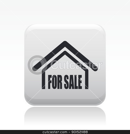 Vector illustration stock vector clipart, Vector illustration of single isolated real estate icon by Myvector
