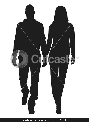 Vector illustration  stock vector clipart, Vector illustration of fashion people silhouette by Myvector