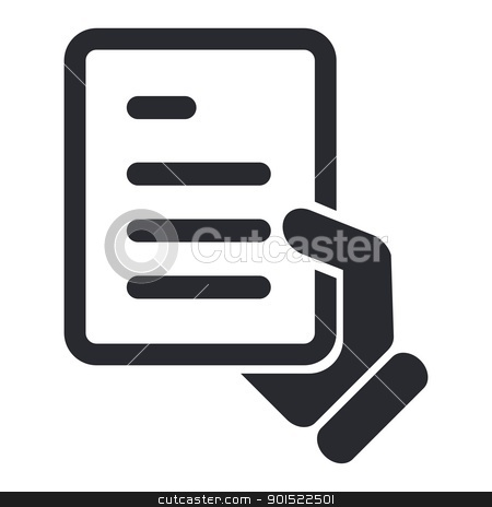 Vector illustration  stock vector clipart, Vector illustration of single isolated document icon by Myvector