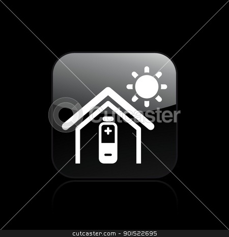 Vector illustration  stock vector clipart, Vector illustration of single isolated home energy icon by Myvector