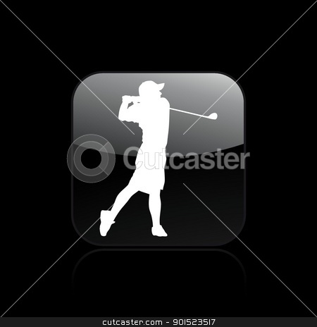 Vector illustration stock vector clipart, Vector illustration of single isolated golf icon by Myvector