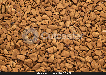 Instant coffee granules macro close up. stock photo, Instant coffee granules macro close up. by Stephen Rees