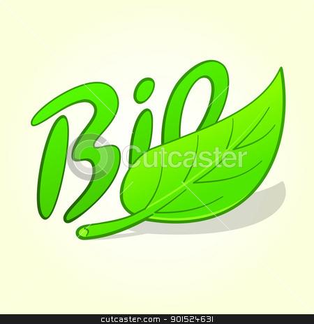 Green Bio Label stock vector clipart, Symbol of organic nature products as green vector illustration by Vitezslav Valka