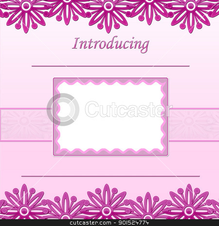 Baby Girl scrapbook page - Birth Announcement - Introducing  stock photo, Baby Girl scrapbook page - Birth Announcement - Introducing  by moments_catcher