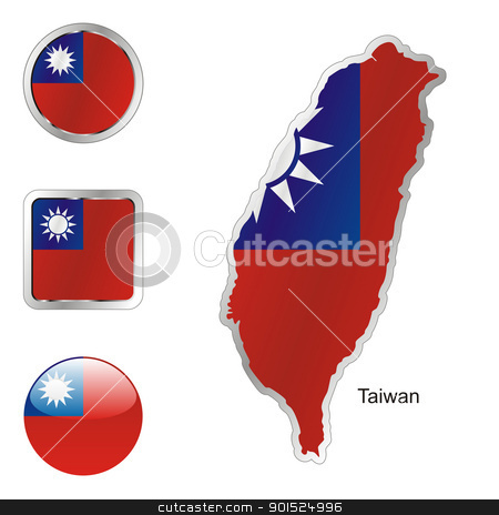 taiwan in map and internet buttons shape stock vector clipart, fully editable flag of taiwan in map and internet buttons shape by pilgrim.artworks