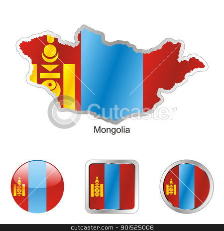 mongolia in map and internet buttons shape stock vector clipart, fully editable flag of mongolia in map and internet buttons shape by pilgrim.artworks