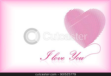 Happy valentines day postcard stock vector clipart, Happy valentines day postcard by Artush