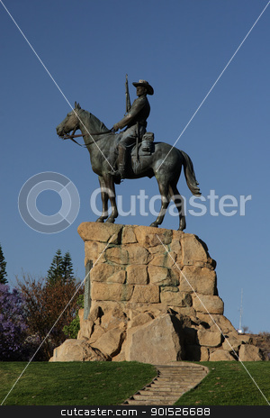 The Rider in Windhoek stock photo, The Rider, a monument in Windhoek in remembrance of the wars in the early 20th century. by DirkR