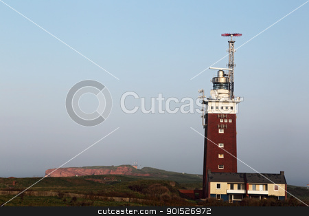 Lighthouse of Helgoland stock photo, Lighthouse of Helgoland in morning light. by DirkR