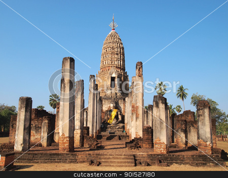 Sukhothai Historical Park stock photo, Sukhothai Historical Park by Paisan  Changhirun
