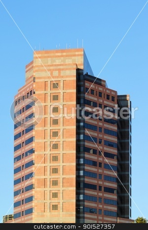 Office Building stock photo, Modern office building in down town Los Angeles by Henrik Lehnerer