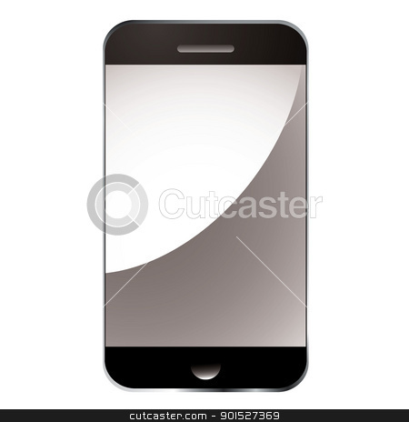 Smart phone blank stock vector clipart, Modern smart phone with blank light relection screen by Michael Travers