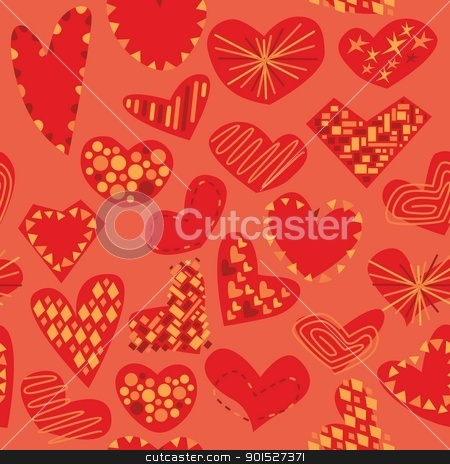 seamless pattern isolated hearts stock vector clipart, fully editable vector illustration seamless pattern isolated hearts by pilgrim.artworks