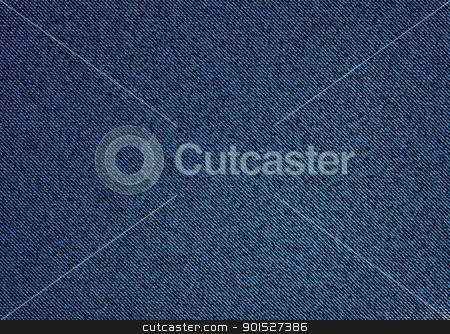 Denim dark Background stock vector clipart, Dark material denim background with stitch weave effect by Michael Travers