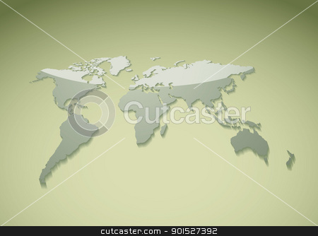 Template green world background stock vector clipart, Green world background ideal template for presenatation by Michael Travers
