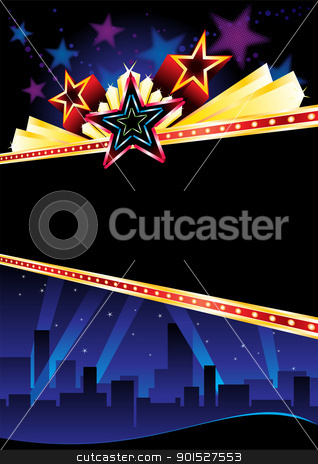 Grand opening stock vector clipart, Poster design for entertainment event in city by Oxygen64