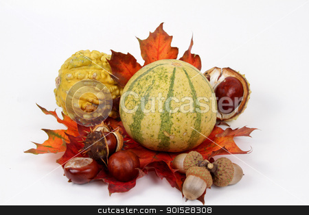 autumnal decoration stock photo, autumnal decoration by FranziskaKrause