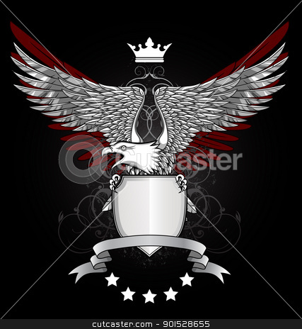 Eagle Shield stock vector clipart, Vector illustration OF Eagle Shield by Surya Zaidan