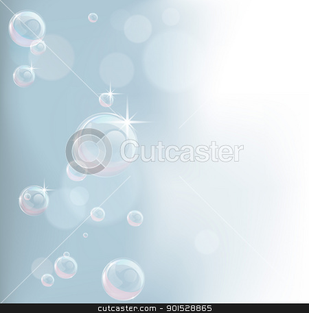 Pastel tones bubble background stock vector clipart, Feminine background illustration in pastel tones with bubbles by Christos Georghiou