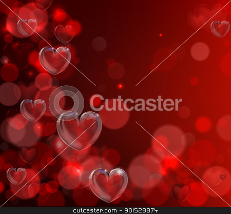 Valentines day heart background stock vector clipart, An abstract illustration for valentines day. Background with hearts illustration. by Christos Georghiou