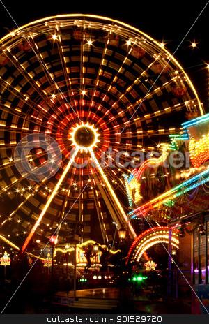 ferris wheel at the fun fair stock photo, ferris wheel at the fun fair by FranziskaKrause