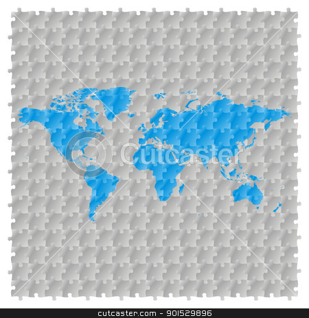 world map with puzzle pattern stock vector clipart, fully editable vector world map with puzzle pattern by pilgrim.artworks