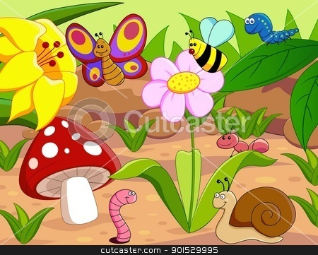 Little critters  stock vector clipart, Vector Illustration Of Little critters  by Surya Zaidan