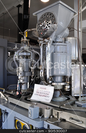 Soda bottling equipment stock photo, Soda bottling equipment by Liane Harrold