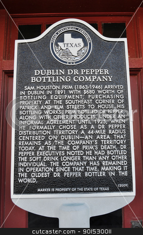 Sign Dublin Dr Pepper stock photo, Sign Dublin Dr Pepper by Liane Harrold