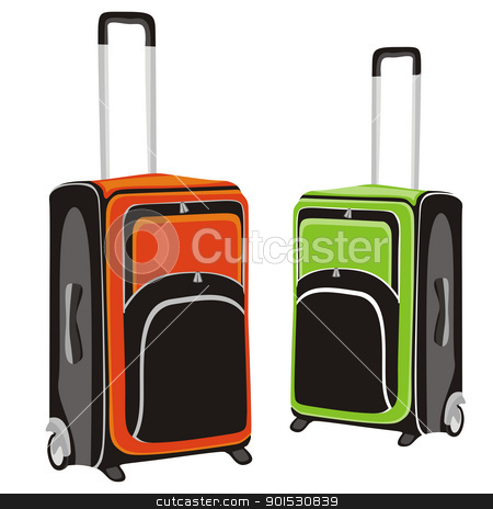 isolated luggage stock vector clipart, fully editable vector illustration of isolated luggage by pilgrim.artworks