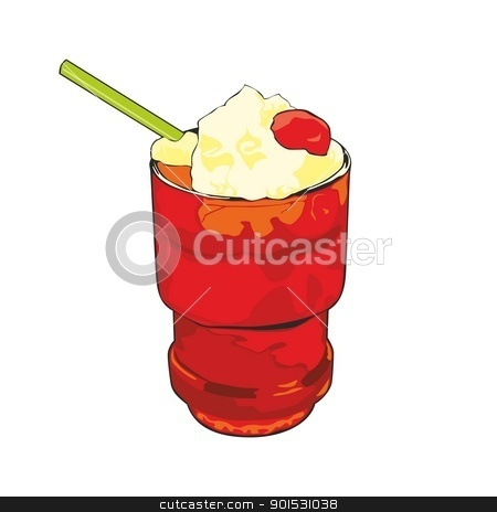 isolated cocktail stock vector clipart, fully editable illustration of cocktail by pilgrim.artworks