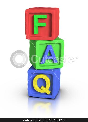 Play Blocks : FAQ stock photo, Play Blocks : FAQ by ayzek