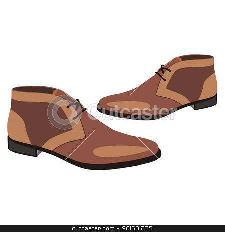 isolated  pair of shoes stock vector clipart, fully editable vector illustration of men pair shoes by pilgrim.artworks