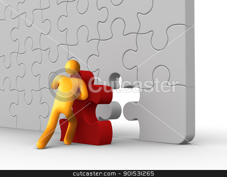 Missing Piece stock photo, Missing Piece. by ayzek