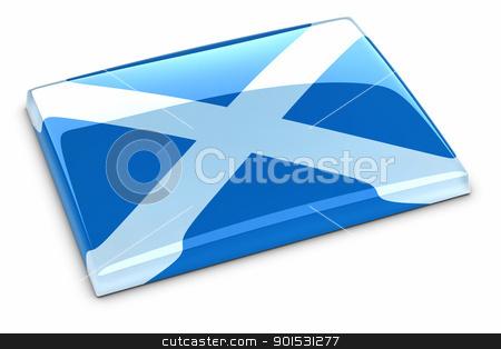 Flag of Scotland stock photo, Flag of Scotland by ayzek
