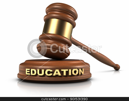 EDUCATION law stock photo, Gavel and