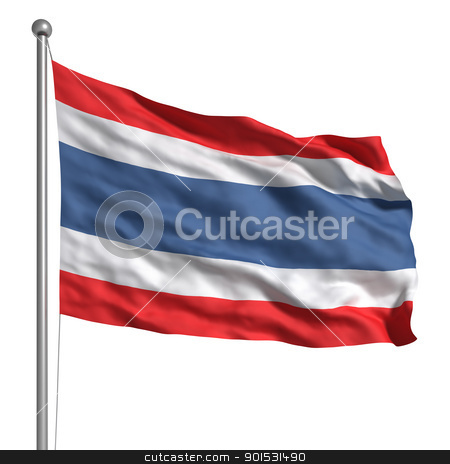 Flag of Thailand stock photo, Flag of Thailand by ayzek