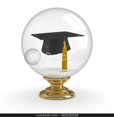 Fortune Teller - Graduation stock photo, Fortune Teller - Graduation. clipping path included. by ayzek