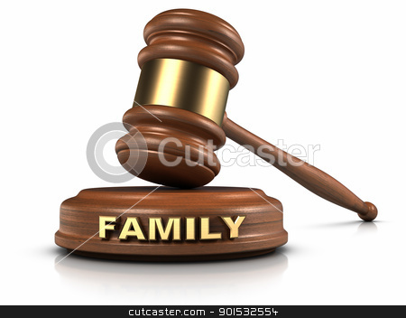 Family Law stock photo, Gavel and