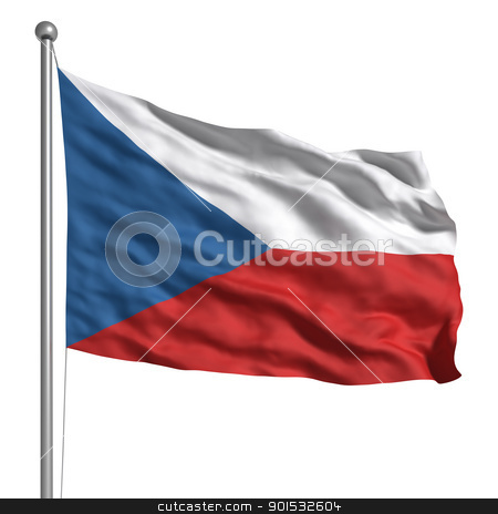 Flag of the Czech Republic stock photo, Flag of the Czech Republic by ayzek