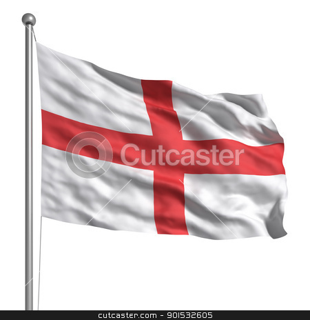 Flag of England stock photo, Flag of England by ayzek
