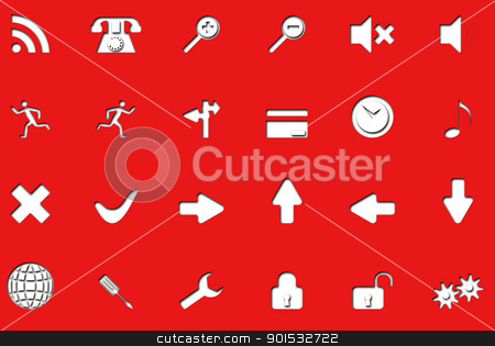 Icons on the new electronic red. stock photo, Icons on the new electronic red. by photomyheart